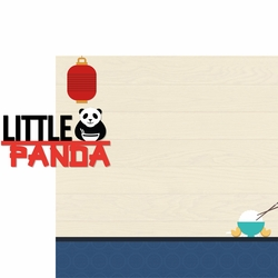 Asian Dream: Little Panda 2 Piece Laser Die Cut Kit