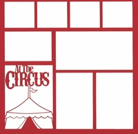 At The Circus 12 x 12 Overlay Laser Die Cut