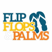 At The Seashore: Flip Flops & Palms Laser Die Cut