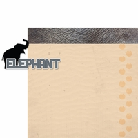 At The Zoo: Elephant 2 Piece Laser Die Cut Kit