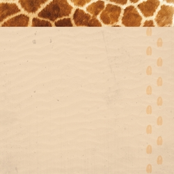 At The Zoo: Giraffe 12 x 12 Paper