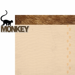 At The Zoo: Monkey 2 Piece Laser Die Cut Kit