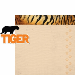 At The Zoo: Tiger 2 Piece Laser Die Cut Kit