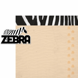 At The Zoo: Zebra 2 Piece Laser Die Cut Kit
