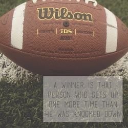 Athletic Affirmations: Football 12 x 12 Paper