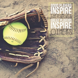 Athletic Affirmations: Softball 12 x 12 Paper