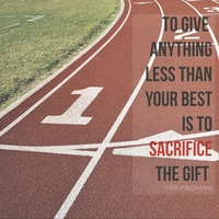 Athletic Affirmations: Track 12 x 12 Paper