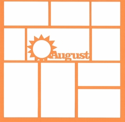 August 12 x 12 Overlay Laser Die Cut