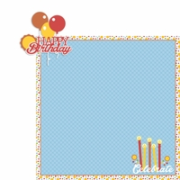 August: Birthday 2 Piece Laser Die Cut Kit
