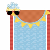 August: Feel the Sunshine 2 Piece Laser Die Cut Kit
