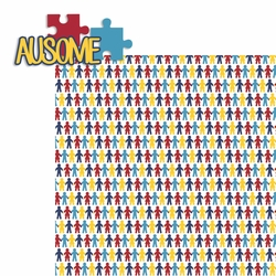 Autism: Ausome 2 Piece Laser Die Cut Kit