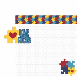 Autism: Love to pieces 2 Piece Laser Die Cut Kit