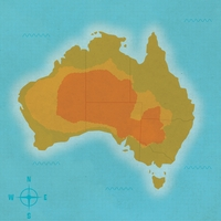 Australia: In The Outback 12 x 12 Paper