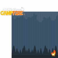 Autumn Air: Around The Campfire 2 Piece Laser Die Cut Kit