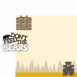 Autumn Air: Don't Feed The Bears 2 Piece Laser Die Cut Kit