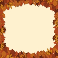 Autumn Air: Fall Leaves Border 12 x 12 Paper