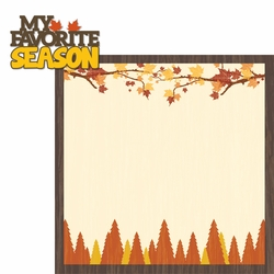 Autumn Air: My Favorite Season 2 Piece Laser Die Cut Kit