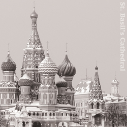 2SYT B&W: St. Basil's Cathedral 12 x 12 Paper