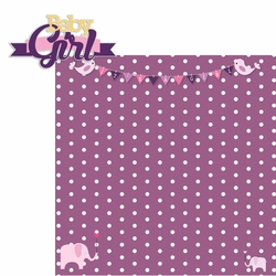 Baby Days: Baby Girl 2 Piece Laser Die Cut Kit