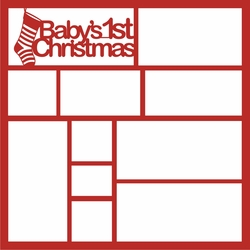 Baby's 1st Christmas 12 x 12 Overlay Laser Die Cut