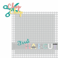 Baby's First: Haircut 2 Piece Laser Die Cut Kit