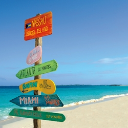 Bahamas: Beach Sign 12 x 12 Paper