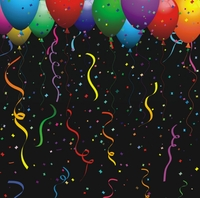 Balloons and Confetti 12 x 12 Paper