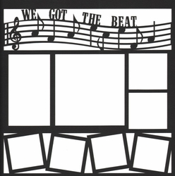 1SYT Band and Music: We Got The Beat 12 x 12 Overlay Laser Die Cut
