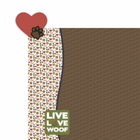 Bark: Heart Paw 2 Piece Laser Die Cut Kit