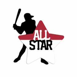 Baseball: All Star Laser Die Cut
