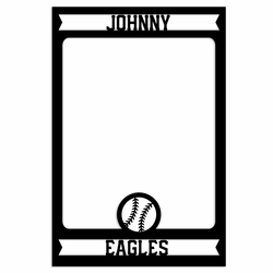 Baseball: Custom Frame Laser Die Cut
