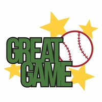 Baseball: Great Game Laser Die Cut