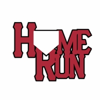 Baseball: Home Run Laser Die Cut