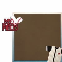 Baseball: My heart  2 Piece Laser Die Cut Kit