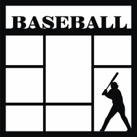 Baseball Player 12 x 12 Overlay Laser Die Cut