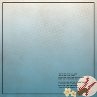 Baseball: Take me out to the ballgame 12 x 12 Paper
