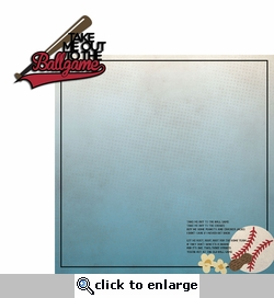 Baseball: Take me out to the ballgame 2 Piece Laser Die Cut Kit