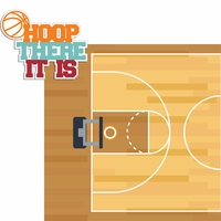 Basketball: Hoop There It Is 2 Piece Laser Die Cut Kit