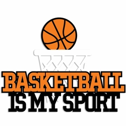 Basketball: My Sport Laser Die Cut