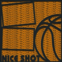Basketball: Nice Shot  12 x 12 Overlay Quick Page Laser Die Cut