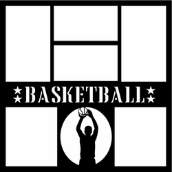 Basketball Player 12 x 12 Overlay Laser Die Cut