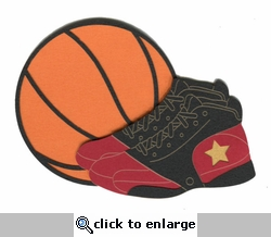 Basketball with Shoes Laser Die Cut