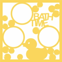 Bath Time 12 x 12 Overlay Laser Die Cut