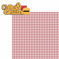 BBQ:Chillin' and Grillin' 2 Piece Laser Die Cut Kit