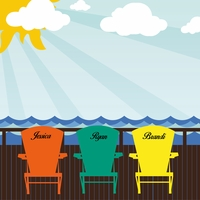 Beach Days: Beach Chairs Custom 12 x 12 Paper