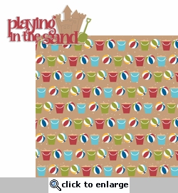 Beach Fun: Playin' in the Sand 2 Piece Laser Die Cut Kit