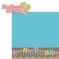 Beach House: Flip Floppin' all Summer 2 Piece Laser Die Cut Kit