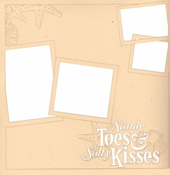 2SYT Beach: Sandy Toes And Salty Kisses 12 x 12 Overlay Laser Die Cut