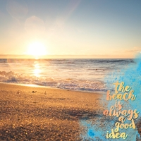 Beach Sayings: Good Idea 12 x 12 Paper