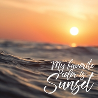 Beach Sayings: Sunset 12 x 12 Paper